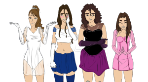 The M9 Girls in costume
